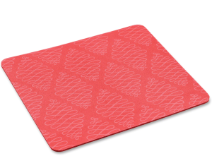 coral flat mouse pad