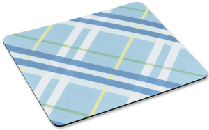 plaid flat mouse pad
