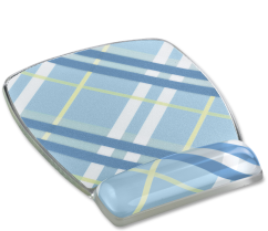 plaid gel mouse pad